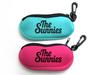 Henrycase neoprene soft sunglass case with zipper ang hanger, neoprene eyeglass case with hook