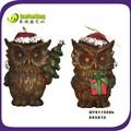 2014 projeto o mais atrasado da resina do natal decoração coruja/coruja artesanato/coruja ornamento