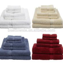 luxury hotel bathroom eco-friendly Egyptian cotton towel set