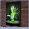 advertising edge lit slim aluminum snap frame led light box
