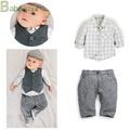 erkek bebek yenidoğan çocuklar Toddler beyefendi resmi romper elbise toptan çocuk romper