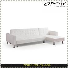 white color faux leather sofa folding sofa bed CS-131