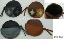 Fashion Italy SUIE SECRET round PU leather floral designer purse
