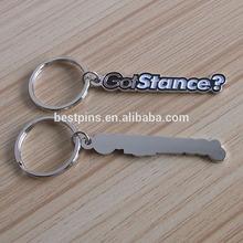 cut out words shape metal key rings, customized metal key holder