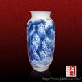moderno diseño chino antiguo jarrón pintado a mano escena montañas buena para la venta