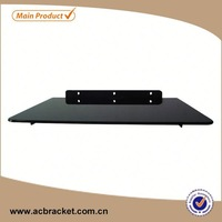Professional Decorative Set-top Box Glass Wall tv mount with dvd glass bracket