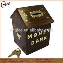 vintage sheesham wood wooden money box,wooden piggy bank box