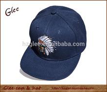Navy blue custom snapback hat and cap flat baseball cap