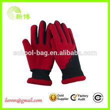 specialized red beautiful lady polar fleece gloves