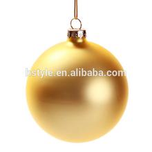 8CM Matt Gold Glass Ball Christmas Ornaments (100pcs/Carton) SD091