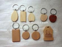 promotional blank custom handmade wood carving keyring