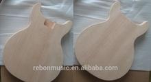one piece mahogany wood RLP junior double cut electric guitar body