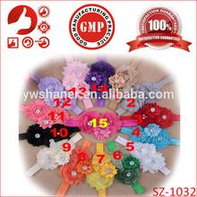 2014 adorable plastic flower headband for newborn baby Handmade beautiful kids elastic daisy head accessories
