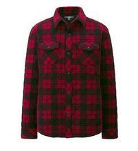 Men's fine fleece shirt-style jacket pressure line