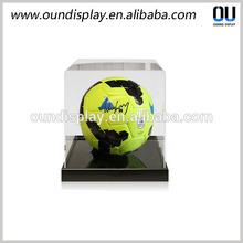 acrylic football boot display case mens Xmas advertising display