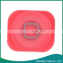 2014 Hot Selling Pink Plastic Home Button for iPhone 5
