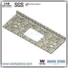 72 inch 72''x22'' Flat Edge/ Eased Edge rectangular bowl Wave white Granite Vanity Top