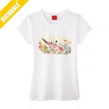 Factory Cheap Fashion Custom Logo Women T-shirt for sale