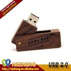 New Wooden Waterproof & Moistureproof USB Swivel Shape USB Flash Drive 4GB