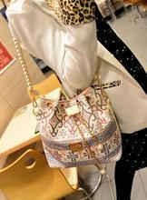 Z72390A Lady Classical style canvas bucket women shoulder bag
