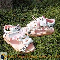 Roman Leopard bone Korean Pierced little fancy girls new flat sandals