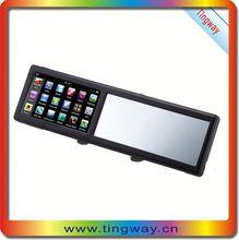 Retrovisore bluetooth- vista specchio di navigazione gps specchietti personalizzati posteriore per auto ce rohs fcc 1 anno di garanzia