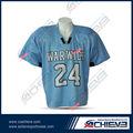 impressão azul e branco de uniformes de futebol para a equipe