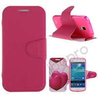 Flower Butterfly Magnetic Wallet PU Flip Leather Stand Cover Case For Samsung Galaxy s4 Mini