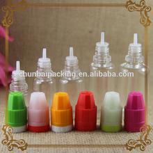 2014 the latest smoke oil bottle/PET empty e -cig liquids clear plastic smoke oil dropper bottle /liquid nicotine bottle