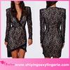 Modern women Black Eyelash Lace Wrap over Mini Dress
