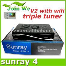 sunray sr4 800hd se triple tuner wifi / Sunray sr4 V2 sim 2.20 all in stock