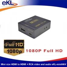 AV converter, HDMI to CVBS + RCA audio output converter