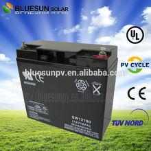 Bluesun UL certificate home system 12Ah 12v sealed lead acid battery