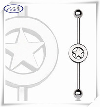 Most popular industrial barbell with star logo factory price