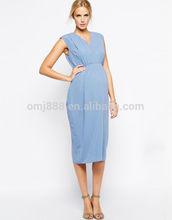 Maternity Gathered Workwear Maxi Dress China supplier