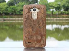stylish hard back cover engrave wood case for lg g3