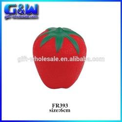 PU Stress Toy Soft Fake Fruit Artificial Strawberry for Home Decorative