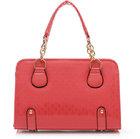 wooden handle bags lady leather genuine crocodile handbag