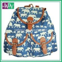 Navy White Elephant Print Backpack