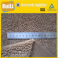 thick polyester fabric jacket fabric lambs wool fake sheep fur for lining fabric for fur coat