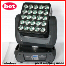 WLEDM-16 wireless 25 pcs cree RGBW 4 in 1 10W leds beam wash moving led stage light mixer