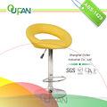 Oufan luxo couro cor amarela banqueta banqueta para uso da loja e de uso doméstico abs-1429
