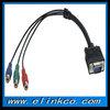 VGA to rca splitter cable 15 pin vga to 3 rca splitter cable