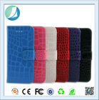 Factory book style crocodile skin leather mobile phone case for iphone 6