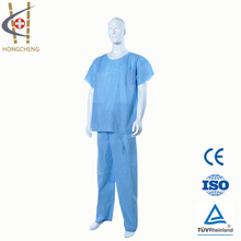 Disposable non-woven SMS/PP surgical medical gown for doctors