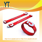 promotional Silicone USB Wristband/christmas gift wristband