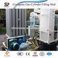 Líquido criogénico co2 tanque/bomba/vaporzier del cilindro de gas de la estación de llenado skid- montado