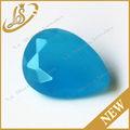 venta al por mayor azul lechoso de forma de pera de cristal de cristal de piedra