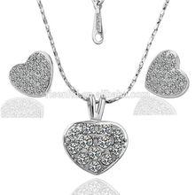 2014 fashion jewelry heart with stone jewelry set GPS056