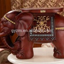 home decoration pieces elephant shaped footstool European luxury furniture